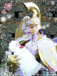 Saori in the small arm to Athena with god cloth ! by valentinachan
