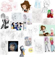 Fairy Tail sketch dump by Lolly-pop-girl732