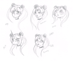 Sailor Moon Style Study by MermaidSoupButtons