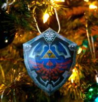 Hylian Shield Ornament by studioofmm