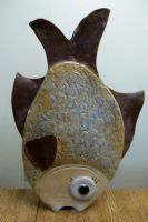 ceramic fish vase by Haeddre