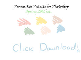 Spring 2012 palette promarkers by L-A-B-R-A-D-O-R