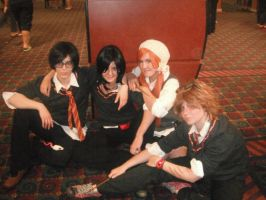 Harry Potter: The Marauders and Lily by paper-stars