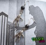 NOSFERATU / SKELETON HANDS EARRINGS by TocsinDesigns