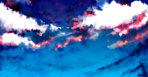 Experimenting sky with photoshop by Kirimimi