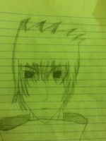 A quick bad sketch of an anime boy by shock-is-awesome44