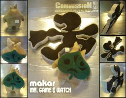 Plushies: Makar - Mr Game and Watch by eERIechan