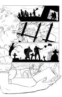 Mary Shelley's Frankenstein Page 1/4 Digital Inks by BrianLee88