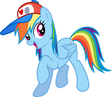Rainbow Dash (I Love Manehattan edition) by GameMasterLuna