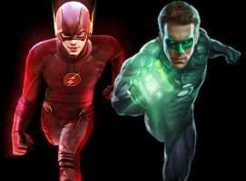 Flash/Green Lantern Movie Team-Up by batmanadik05