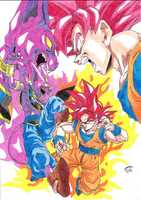 Dragonball Z Battle of Gods Goku VS Bills Colour by TriiGuN