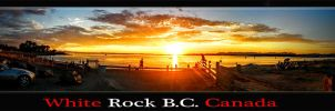 White Rock Sunset by KarmeticPeace