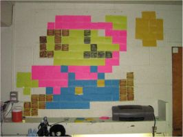 Post-it Note Mario by Zyzic