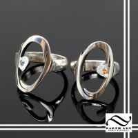 Portal rings with Topaz and Garnet by mooredesign13