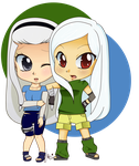 Commish: Siori and Shiori by Jazzie-Simone