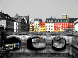 Copenhagen canal by xDamnedSoulx