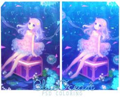BlueOcean - Psd Coloring by KawaiiDoll-Chan