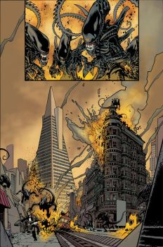 Aliens Color Sample Page 3 by AdamGuzowski