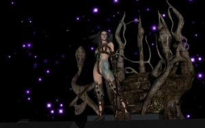 Warrior Woman Among the Stars by terridol