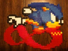 Sonic From Sonic CD Beads by nayrb00
