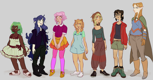 the ladies by MeelaDot