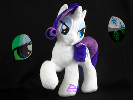 Rarity RHV1 Glow-in-the-Dark by kiashone