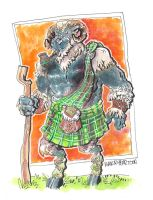 Scotish Highland Sheep by mannycartoon