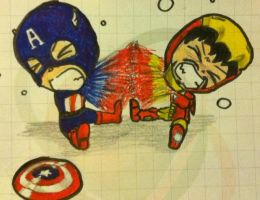 Steve and Tony :'D by GiuliaLennon94