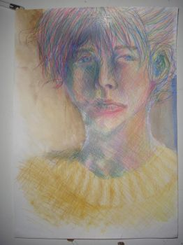 Young man with a yellow sweater by usuallyidontgive