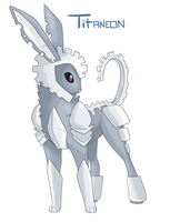 Eeveeloution: Steel-Type Titaneon by GaelicKitsune