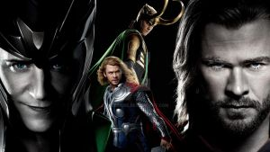 Loki and Thor II. by Allexaire