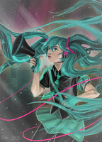 Miku Screaming into a Megaphone by CamptainAmerica