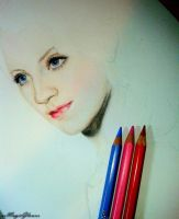 Luna Lovegood (Evanna Lynch) - sketch (WIP) by xxMagicGlowxx