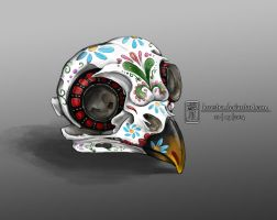 Day Of The Dead Bird Skull by lorestra