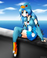 Angry Birds blue bird girl 2 by Neon-Juma