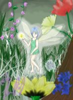 Fairy in the Flowers by TheReza13