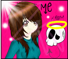 me anime version and krom by LittleChewrrie