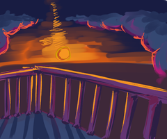 Rooftop During Sunset by Glubby