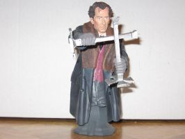 Peter Cushing as Van Helsing Bust 2 by RoyPrince