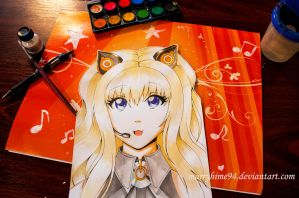 SeeU watercolors by Marryhime94