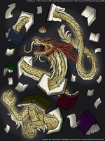 Open Book, Reveal Magic - color work by pagangirl1986