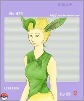 Leafeon - Gijinka Pokedex by Kuurankukka