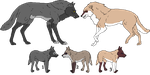 Wolf cubs no. 18 by PhlegmaticBreedables