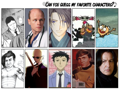 favourite characters meme by cupcake-bakery