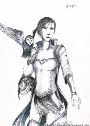 God of War ink 1 - Athena