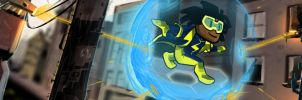 Superhero Static Shock! by Trevor-Verges