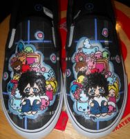 L Deathnote Chibi Shoes by gigibecker