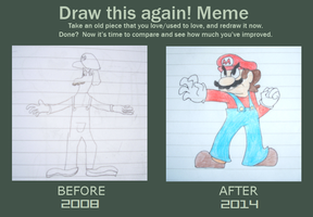 draw this again meme by ProfessorLucario9