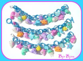 Kawaii Sea Creatures Bracelets by Bojo-Bijoux