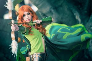 DOTA 2 - Lyralei the Windranger by Shazzsteel